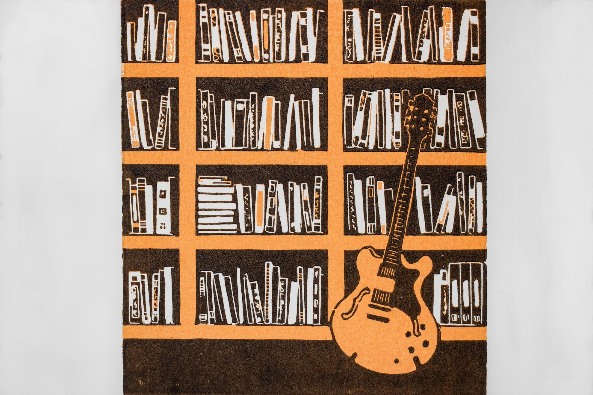 gitaar en boeken