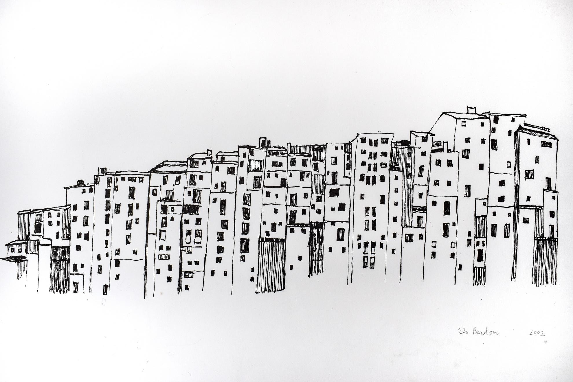 Goede Tekeningen, interieurs, mensen, landschappen en huizen - Els Pardon YC-43